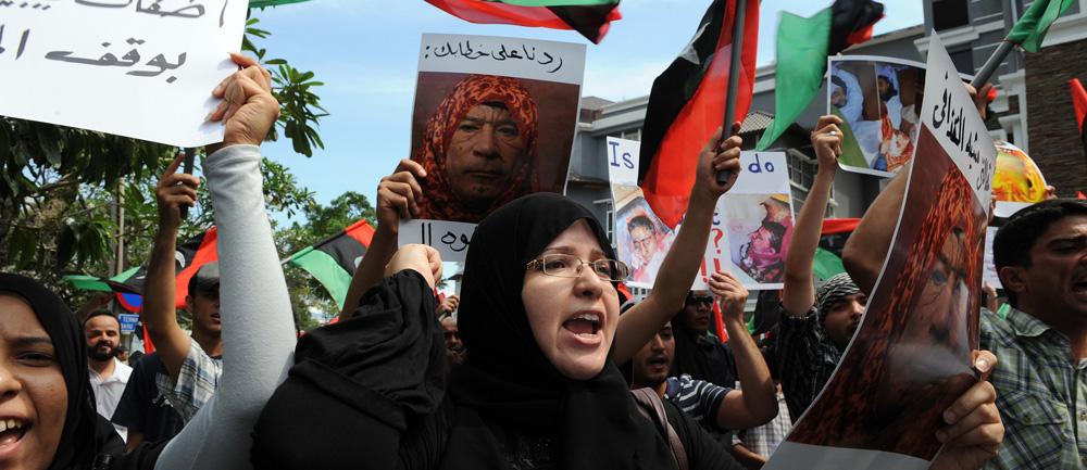 MALAYSIA-LIBYA-POLITICS-UNREST-PROTEST