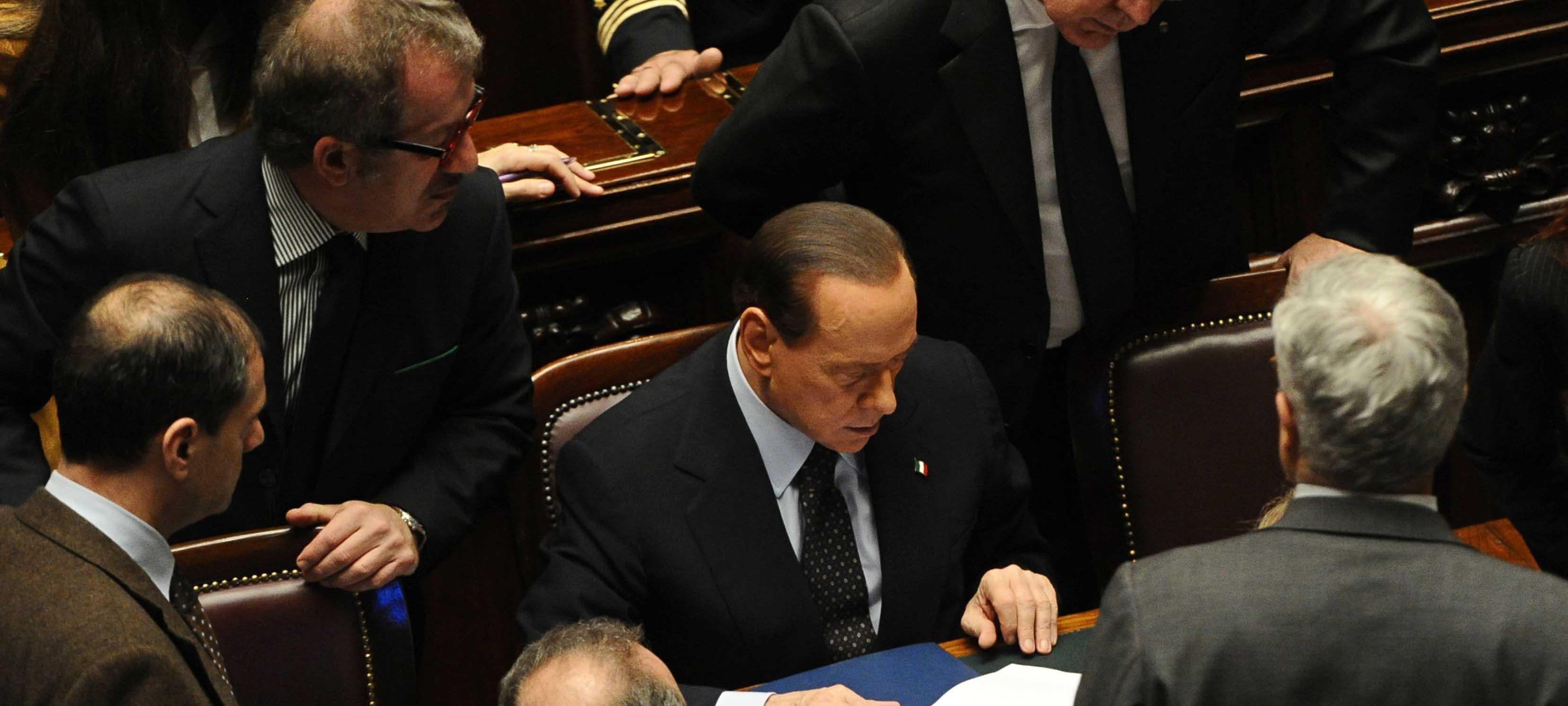 ITALY-POLITICS-PARLIAMENT-VOTE-BERLUSCONI