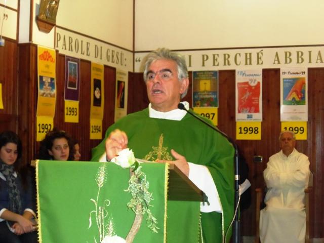 Padre Francesco Cordeschi, ideatore e anima della Tendopoli