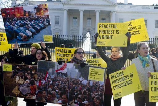 Una protesta contro la pena di morte negli Usa