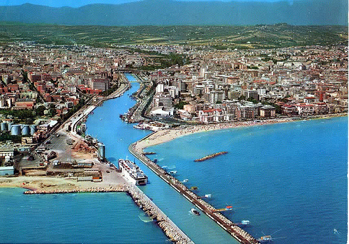 Un'immagine aerea di Pescara