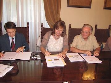 La firma della Convenzione con De Collibus e la Porcaro