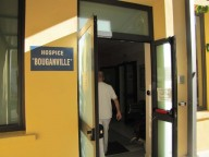 L'ingresso dell'hospice