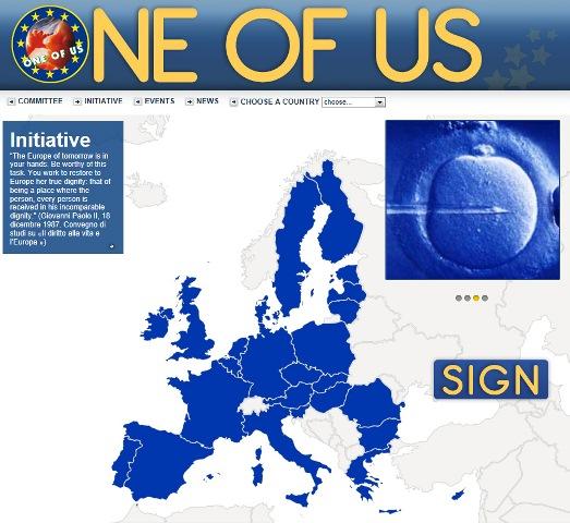 """Il manifesto europeo di """"Uno di noi"""""""