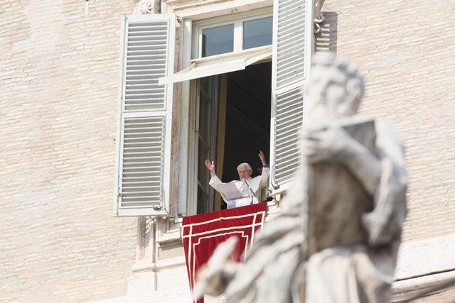 Vatican City 24 February 2013 The last Angelus of Pope Benedict XVI