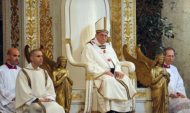 Roma 14-04-2013Basilica di San Paolo fuori le mura  Papa Francesco celebra la messa per la   presa di  possesso della BasilicaPh: Cristian Gennari/Siciliani