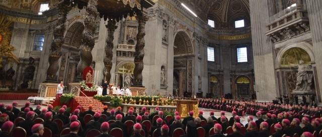 Roma 23-05-2013Basilica di San Pietro, Papa Francesco celebra la Solenne Professione di Fede dell' Episcopato Italiano Ph: Cristian Gennari/Siciliani