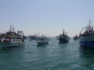 La processione in mare, in onore di Sant'Andrea