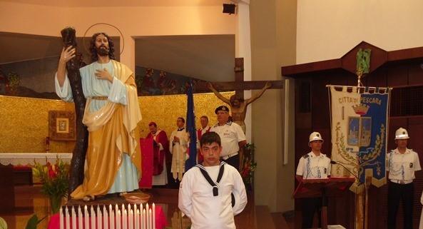 L'effige di Sant'Andrea conservata nella chiesa omonima