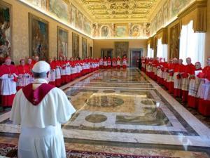 Il saluto natalizio di Papa Francesco ai cardinali della Curia romana
