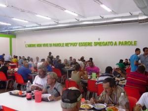 La mensa Caritas, all'interno della Cittadella  dell'accoglienza Giovanni Paolo II a Pescara