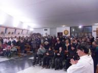 La parrocchia del Cristo Re, gremita dai fedeli