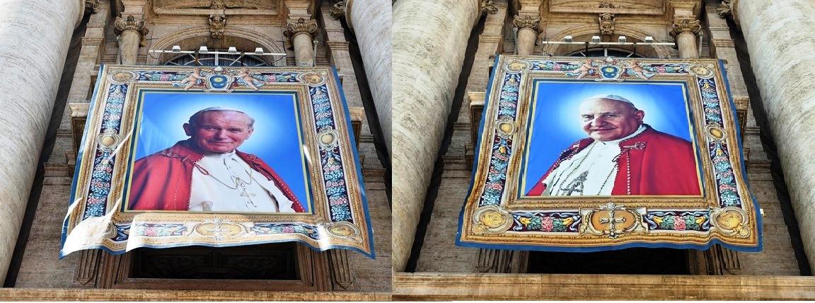 proclamazione santi Giovanni XXIII e Giovanni Paolo II