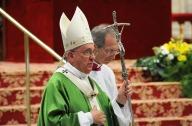 Papa Francesco, durante la Santa Messa di apertura del Sinodo