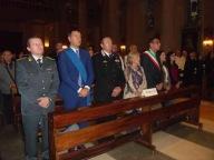 Le autorità civili e militari presenti alla celebrazione