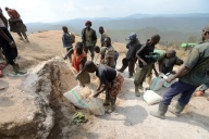 Una miniera di coltan in Congo