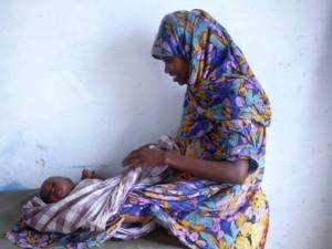 Una madre con suo figlio