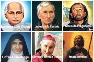 I sei santi canonizzati da Papa Francesco