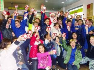 Gli alunni dell'Istituto comprensivo Pescara 3