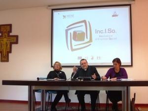 L'inaugurazione di Inciso, il 30 gennaio scorso, alla presenza dell'arcivescovo Valentinetti e l'assessore regionale al Lavoro Sclocco