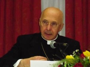 Il cardinale Angelo Bagnasco, presidente della Conferenza episcopale italiana