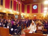 Fedeli e consacrati hanno gremito la chiesa dello Spirito Santo