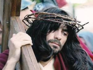 L'attore Francesco Morelli interpreta Gesù nella Via Crucis