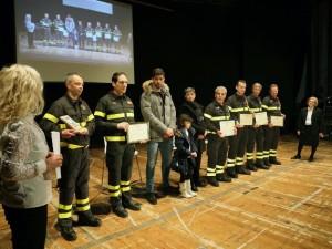 La premiazione dei Vigili del Fuoco di Pescara