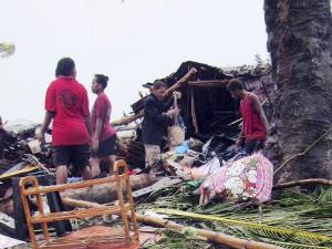 La devastazione lasciata dal  ciclone Pam nell'arcipelago di Vanuatu