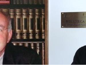 Don Giuseppe Di Bartolomeo e, accanto, l'arcivescovo Valentinetti all'intitolazione