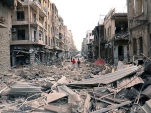 La devastazione nella città siriana di Aleppo