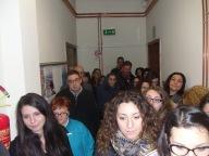 Gli studenti presenti all'intitolazione