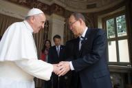 Papa Francesco riceve in udienza Ban Ki-moon