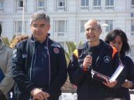 Il presidente della Regione Abruzzo Luciano D'Alfonso, con il Capo Dipartimento di Protezione civile Fabrizio Curcio
