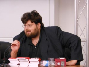 Il giornalista, direttore del quotidiano La croce, Mario Adinolfi