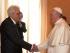 Il presidente della Repubblica italiana, Sergio Mattarella, incontra Papa Francesco