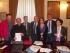 La firma del protocollo d'intesa, ieri, presso il Comune di Pescara