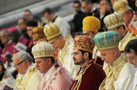 La comunità armena presente ieri nella Basilica di San Pietro