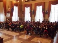 Il pubblico ha gremito la sala consiliare del Comune di Pescara