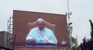 Papa Francesco, sui maxi-schermi di Expo, pronuncia il suo messaggio