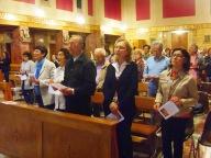 I fedeli presenti mercoledì sera nella chiesa dello Spirito Santo