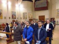 I fedeli intervenuti nella chiesa di San Giuseppe