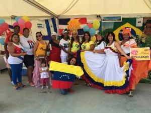 Alcuni dei 25 Paesi del mondo presenti alla Festa dei popoli