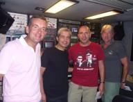 Da sinistra l'aiuto regista don Simone Chiappetta affiancato dal regista Gianni Epifani e dai due assistenti