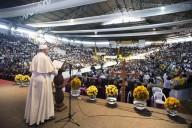 I rappresentanti dei movimenti popolari in ascolto del Papa
