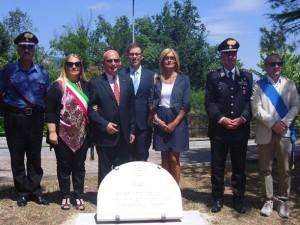 La cerimonia d'intitolazione del Giardino comunale di Vicoli a Witold Pilecki