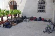 Le decine di luci che verranno posizionate in Cattedrale per agevolare le riprese della messa
