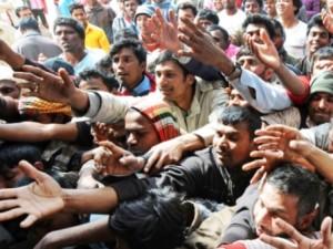 Migranti in attesa di soccorso