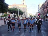 La processione di San Cetteo attraversa via D'Annunzio