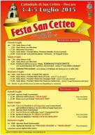 Il programma della festa di San Cetteo